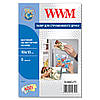 Фотобумага WWM матовая на магнитной основе 10см x 15см, 5л (M.MAG.F5)
