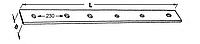 Направляющая планка на поршень (шина) пресс подборщика Welger AP 45 - 1200х70х6мм.