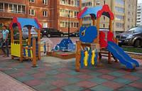 Резировое напольное покрытие для детской площадки 20 мм.формат 1000-1000 мм!!!