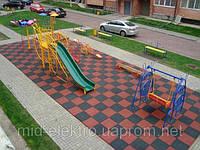 Резиновое покрытие для детской площадки 30 мм.