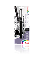 Кисти Ручка-кисть для каллиграфии Pentel  Pocket Brush GFKP3 (2 картриджа) в блистере (GFKP3/FP10 x 97872)
