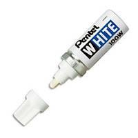 Маркер перманентный 6.5 мм Pentel X100W белый (X100W(белый) x 257)