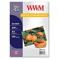 Фотобумага WWM матовая 230г/м кв, A4, 100л (M230.100)