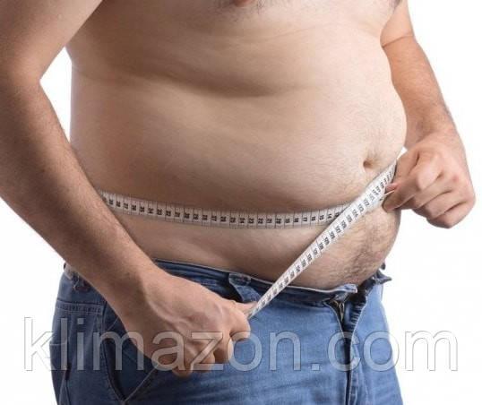 Наличие избыточного веса у мужчин.