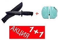 Нож  Columbia USA  Спецназ антиблик + Точилка для ножей