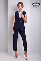 Модный женский темно-синий костюм Чивас ТМ Luzana 42-50 размеры