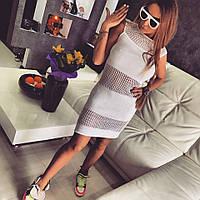 Женское модное легкое платье из льняной пряжи с акрилом