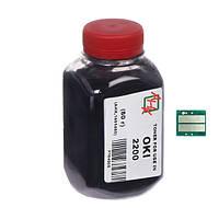 Тонер+чип АНК для OKI B2200 ( тонер АНК, чип АНК) бутль 80г Black (1400559)