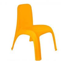 Стул детский пластиковый светло-оранжевый