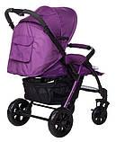 Коляска прогулочная Bair Fox purple светлосиреневый-темносиреневый, фото 6