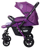 Коляска прогулочная Bair Fox purple светлосиреневый-темносиреневый, фото 7