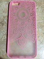 Защитный розовый чехол  для IPhone 5/5S, фото 1