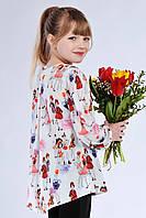 Стильная детская блуза с оригинальным принтом 615