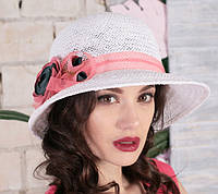 Женская летняя шляпа из натуральной  соломки