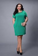 Модное женское платье до 58 размера на короткий рукав, фото 1