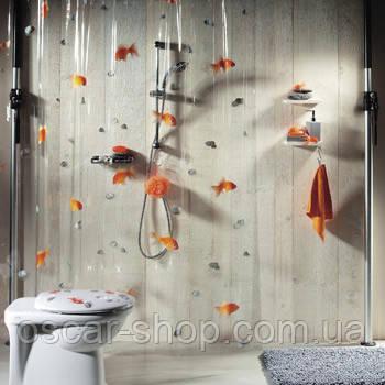 Шторка для ванной прозрачная виниловая Spirella GOLDFISH, 180х200