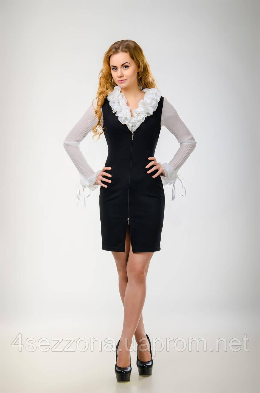 "Женское офисное платье - карандаш ""под рубашки"" M"