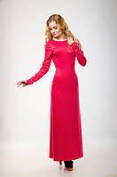Элегантное платье макси с разрезом и открытой спиной XS