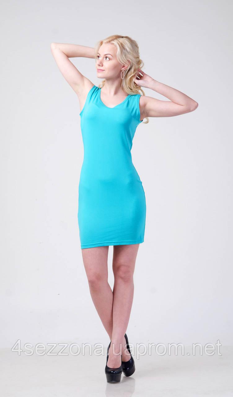 Летнее женское платье - майка из вискозы   M