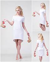 Летнее женское платье - маллет, с открытыми плечами  M