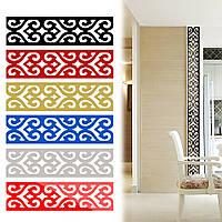 Пластина акриловая зеркальная 2м, для декора ванной и др. помещений. Три цвета