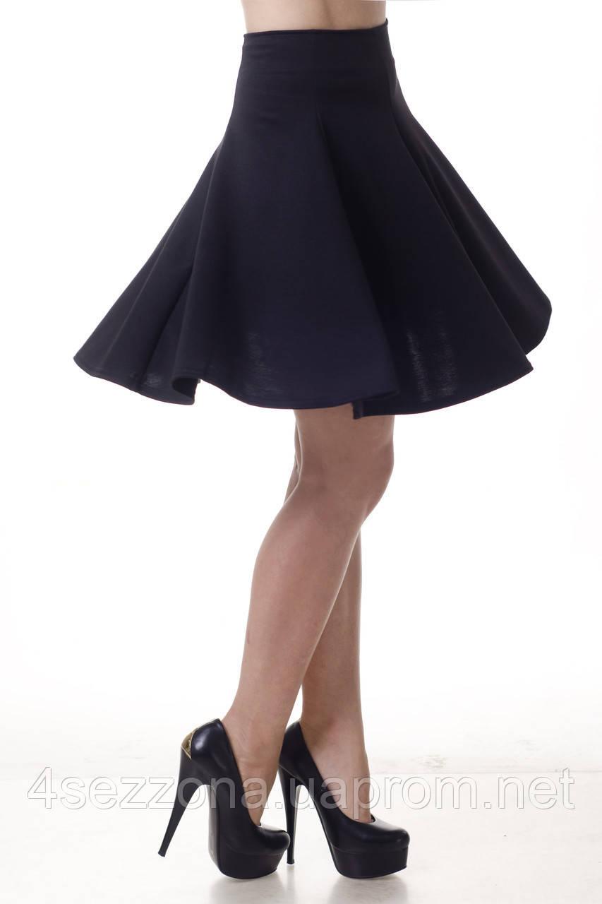 Модная женская юбка - клеш (солнце). Школьная, в университет, офис L