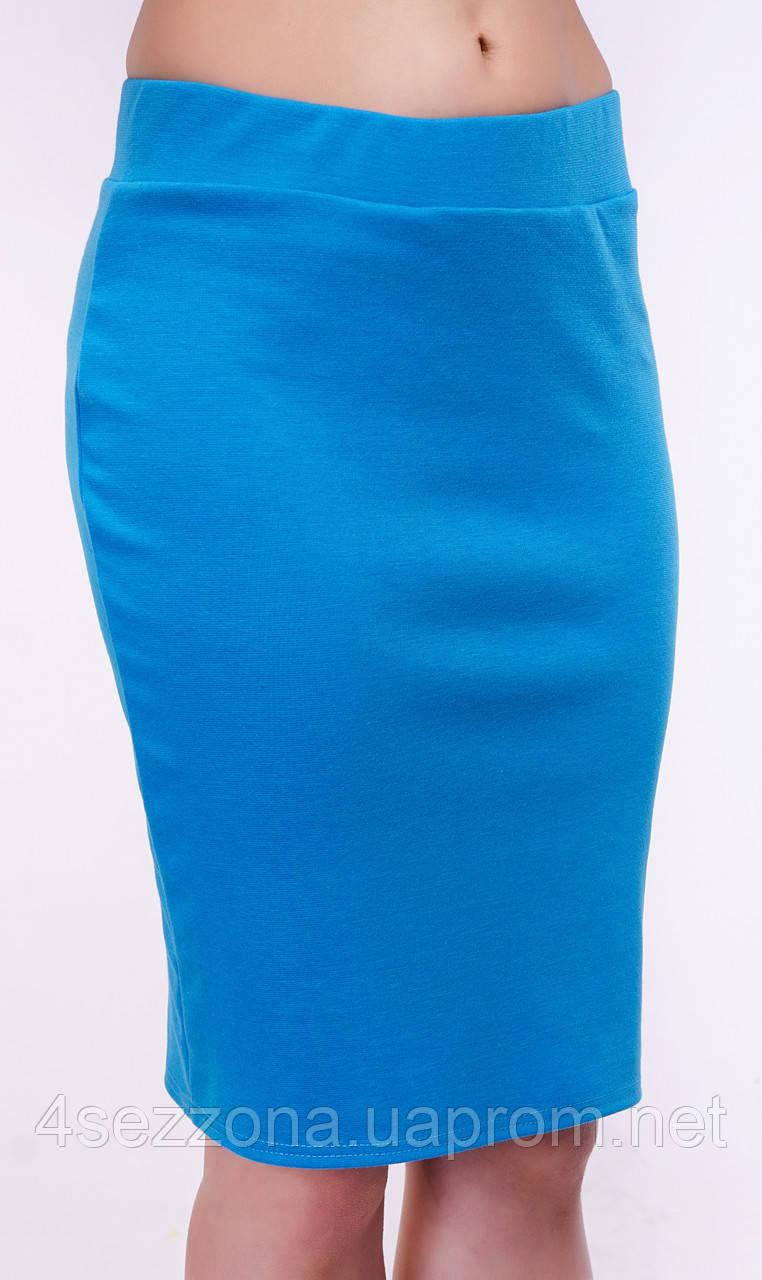Классическая женская юбка карандаш из французского трикотажа L