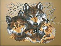 Схема для вышивки бисером Семья волков