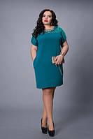Женское нарядное платье  большого размера.