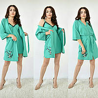 Набор халат с ночной рубашкой Турция