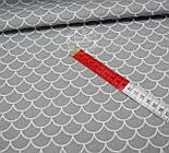 Ткань хлопковая  с серыми чешуйками (№ 667а)., фото 3