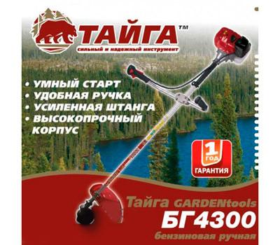 Бензокоса Тайга БГ-4300 (1нож+1леска)