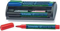 Маркер для доски Набор 4 маркера для досок SCHNEIDER MAXX 110 с губкой и дополнительными патронами S111098 (S111098 x 50939)