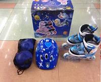 Детские роликовые коньки 30-34 с набором защиты