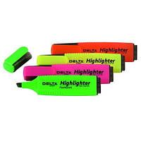 Маркер текстовый Highlighter 2-4 мм  Delta  D2502 (D2502-04(зелёный) x 56590)