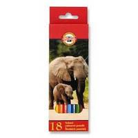 Цветные карандаши Карандаши цветные Koh-i-noor Зоопарк 3553 18 шт.