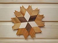 Деревянная подставка под чашку 13,5 см, звезда
