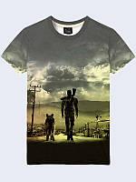 Оригинальная мужская футболка Fallout 4 арт с классным 3D-рисунком, на лето из легкой ткани.