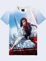 """Мужская 3d футболка """"Mirror's Edge"""" из легкой летней ткани для модных и стильных, размеры S-XXL."""