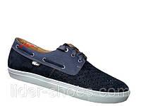 Мужские кожаные мокасины на шнуровке