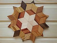 Деревянная подставка под горячее 17,5 см, звезда