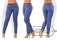 Женские батальные брюки из тонкого коттона с поясом в комплекте