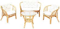 Комплект ротанговой мебели BAHAMA EXCLUSIVE HONEY Белый цвет