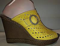Сабо женские натуральная кожа р36-40 DIGSI 186 желтые TONI