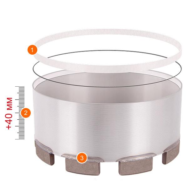 Модуль для реставрации ADTnS с сегментом RM 6 диаметр 102 мм.