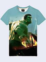 """Оригинальная мужская 3D-футболка """"Hulk Marvel"""" для прогулок на лето."""