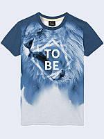 Мужская стильная 3D футболка To be изготовлена из легкого, дышащего и приятного трикотажа для летних вечеров.