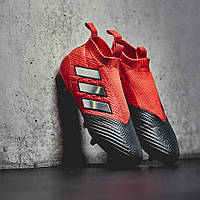 Бутсы без шнурков Adidas ACE 17+ Purecontrol FG - Red/White/Core Black