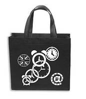 Эко сумка  хозяйственная с замочком (спанбонд)компактная