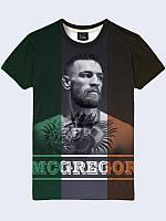 """Мужская легкая стильная 3D-футболка """"McGregor"""" с фотопринтом известного ирландского бойца."""